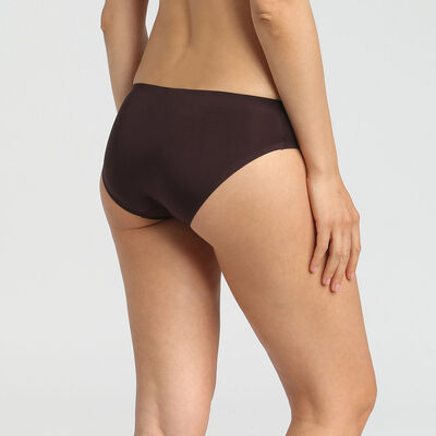Dim InvisiFree precious brown microfibre briefs, , DIM