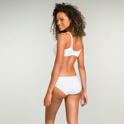 Generous microfibre bikini knickers in white, , DIM