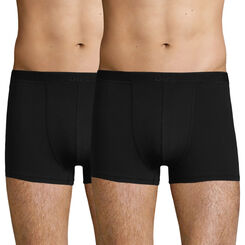 2 Pack men's soft stretch cotton trunks Black Soft Power, , DIM