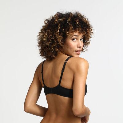 Generous Invisible Dim padded  underwire bra black, , DIM