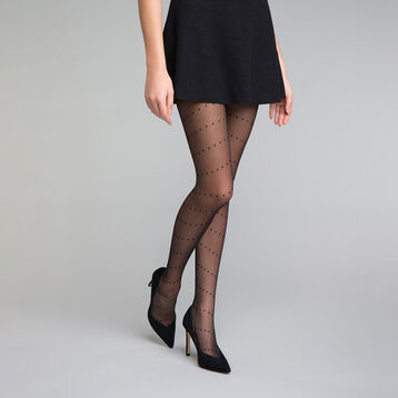 Dotted swiss black 20 Tights - Dim Style, , DIM