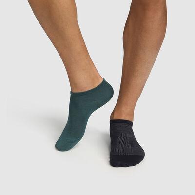 Pack of  2 pairs of herringbone socks for men Cotton Green Style, , DIM
