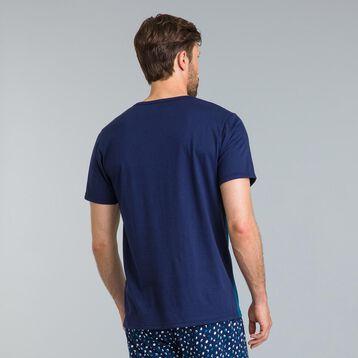 Tee-shirt de pyjama manches courtes bleu Night Gentleman-DIM
