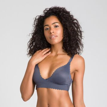 Body Touch granite grey wrap-around bra - DIM