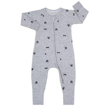 Indian Print Zipped Pyjama in cotton terry Dim Baby, , DIM