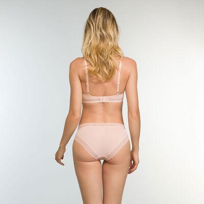 Trendy Micro Microfiber Push up Bra in Nude Pink, , DIM