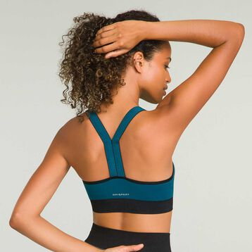 Sports bra with removable padding for women Organic Blue Dim Sport, , DIM