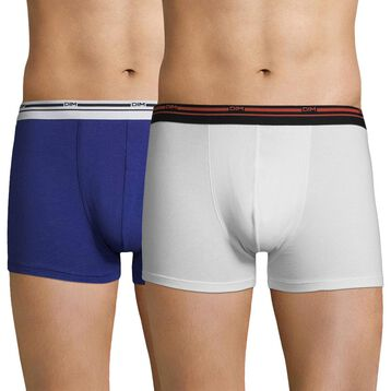 Lot de 2 boxers blanc et bleu indigo Daily Colors-DIM