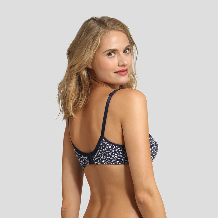 Underwired bra with floral print Generous by Dim, , DIM