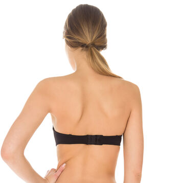 InvisiFit strapless bandeau bra in black, , DIM
