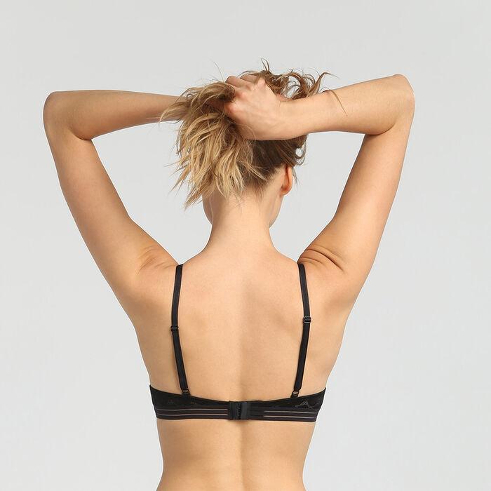 Soutien-gorge foulard ampliforme à pois noir Shaping Dots, , DIM