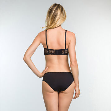 Women's lace and microfiber briefs in Black Daily Glam Trendy Sexy, , DIM