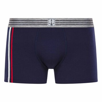 Blue trunks with striped waistband - Summer SEA DIM, , DIM