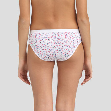 4 pack cherry print cotton briefs Dim Girl Les Pockets, , DIM