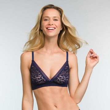 Infinite Blue triangle bra Leopard Line, , DIM