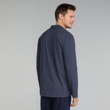 Chemise de nuit bleu marine à motif - Mix and match, , DIM