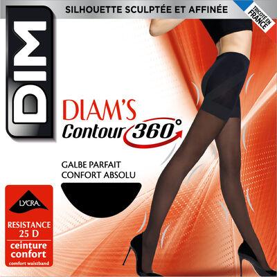 Black Diam's Contour 360° Semi-Opaque 25 slimming tights, , DIM