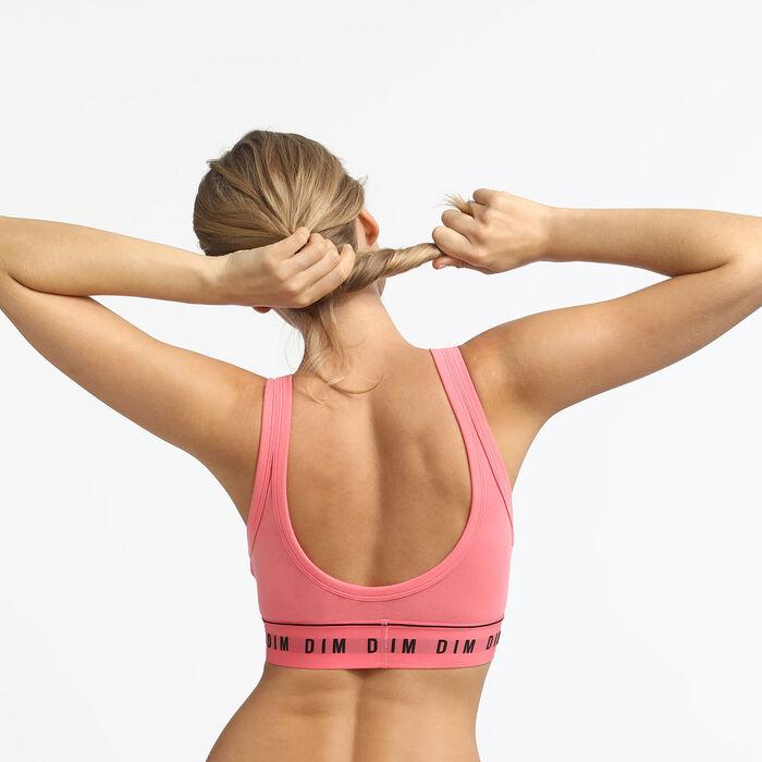 Non-wired bra in light pink Originals Cotton, , DIM