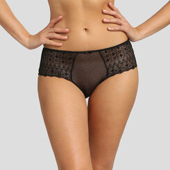 Black lace and plumetis mesh shorty Dim Daily Glam, , DIM