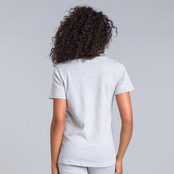 Essential mottled grey short-sleeve T-shirt - DIM