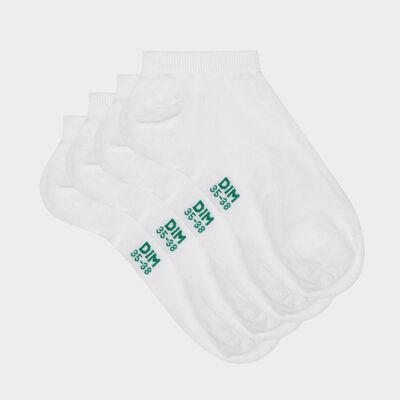Набор 2 шт.: белые женские носки из натурального хлопка Green by Dim, , DIM