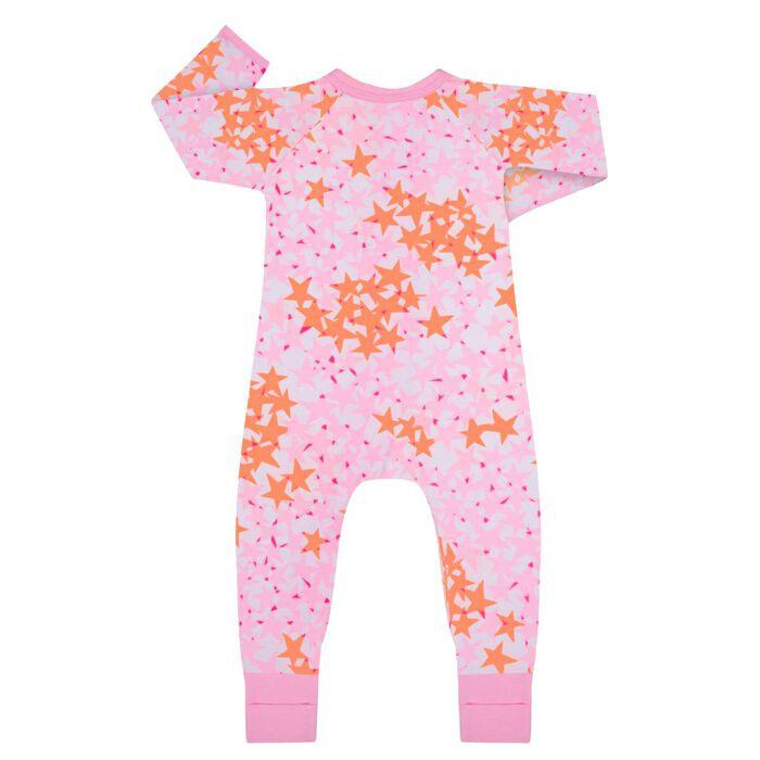 Pyjama bébé zippé Imprimé Étoiles roses DIM Baby, , DIM