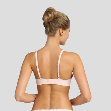 Non-wired soft pink triangle bra New Body Touch Libre by Dim, , DIM