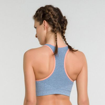 Sport bra in antique blue- Dim Sport, , DIM