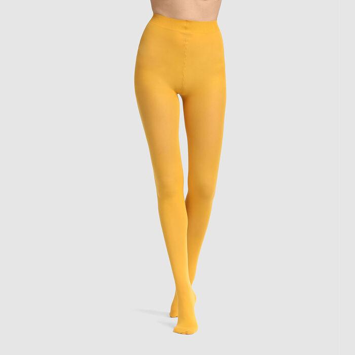 Collant opaque velouté Jaune d'or 50D Femme Les Opaques, , DIM