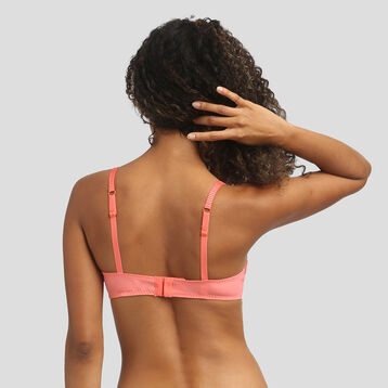 Lace coral pink bra Dim Sublim, , DIM