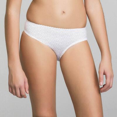 Трусики для девочки белого цвета с принтом в виде логотипа - Dim Touch, , DIM