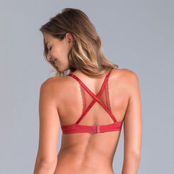 Trendy Micro racerback push up demi-cup bra - DIM