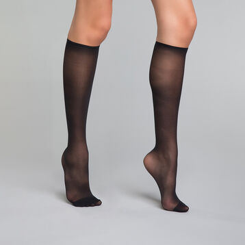Sheer black 20 knee-highs - DIM Thermo Acti'Voile, , DIM