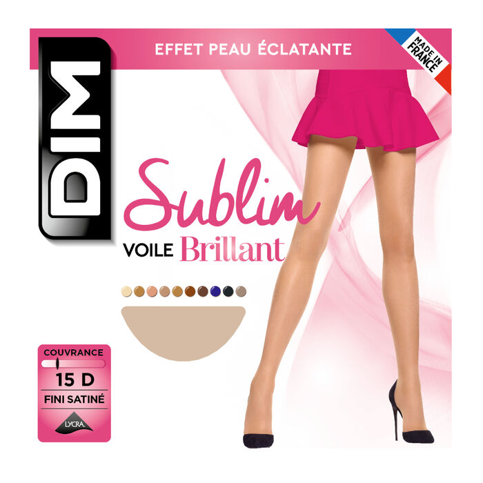 Sublim Voile Brillant 15 sheer shine tights in capri, , DIM
