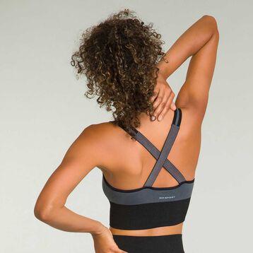 Seamless women's bra Dark Grey Dim Sport, , DIM