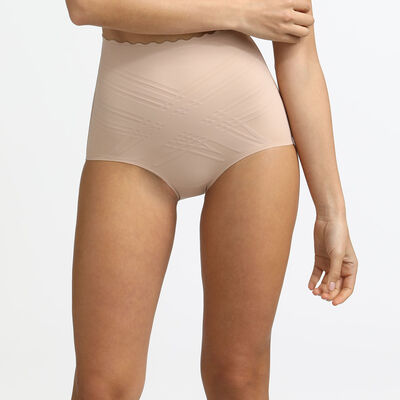 Beauty Lift sculpting high rise knickers in barely beige, , DIM