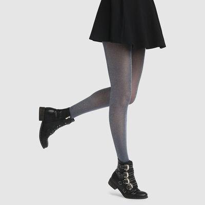 Dim Style 23D fancy tights in petrol blue lurex, , DIM