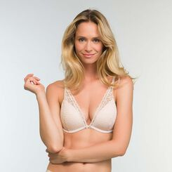 Soutien-gorge Foulard Push-up Beige Léger Daily Glam Trendy Sexy, , DIM