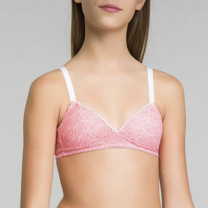 Sujetador traiangular con relleno rosa - Dim Touch, , DIM