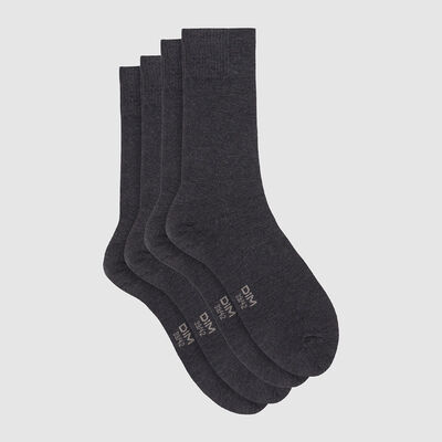 Dim Bamboo pack of 2 pairs of viscose socks Dark Heather Grey, , DIM