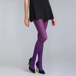 Style 50 velvety midnight purple opaque tights - DIM