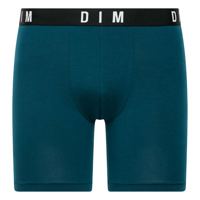 Peacock blue long trunks in modal and cotton - DIM Originals, , DIM