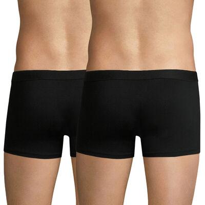 2 Pack stretch cotton trunks Black Ecodim, , DIM