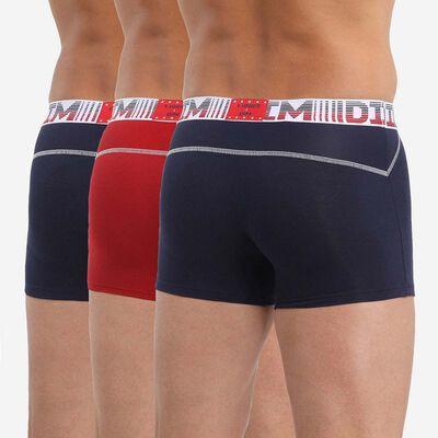 Pack of 3 men's boxers with mesh zones Blue Denim Red 3D Flex Air, , DIM