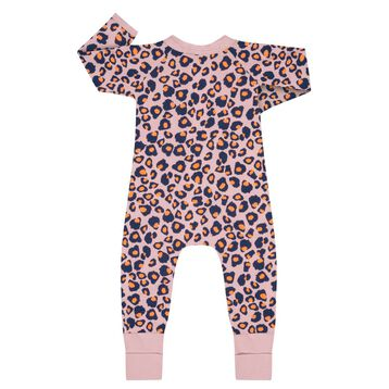 Zipped Pyjama in cotton stretch with animal print Dim Baby, , DIM