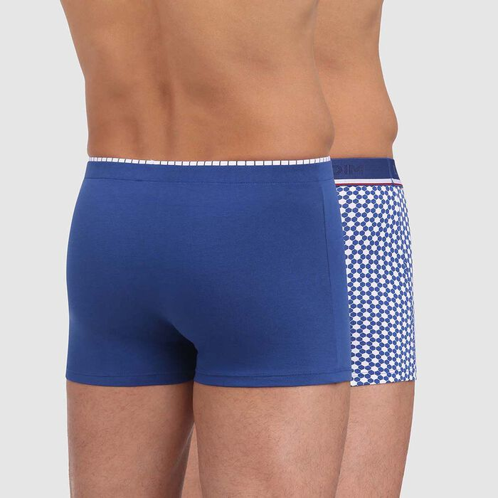 2 pack trunks in steel blue with ball print Dim Cup, , DIM