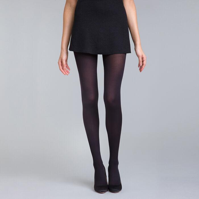 Black DIM Signature Opaque Velouté 60 velour tights, , DIM