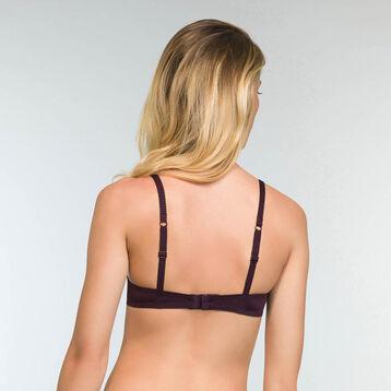Soutien-gorge foulard push-up Violet Précieux Sublim Dentelle, , DIM