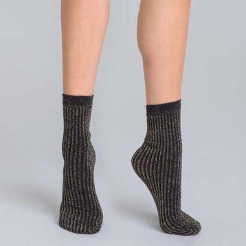 Socquettes en cotte de mailles lurex or DIM & BASH-DIM