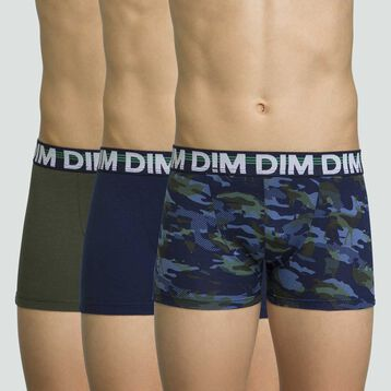 3 pack stretch cotton boxers for boys in Sailor Blue Eco Dim, , DIM
